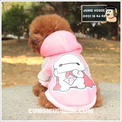 Junie House chuyên cung cấp quần áo, phụ kiện cho thú cưng: Trang phục superman, cướp biển, minions, áo thun có mũ cho chó mèo   0901.18.46.48