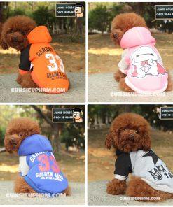 Junie House chuyên cung cấp quần áo, phụ kiện cho thú cưng: Trang phục superman, cướp biển, minions, áo thun có mũ cho chó mèo | 0901.18.46.48
