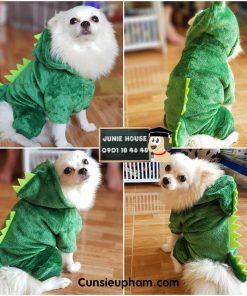 Áo khủng long xanh cho chó mèo nhỏ, lớn | Junie House chuyên cung cấp quần áo cho chó, quần áo chó mèo, đồ chơi cho chó mèo, đồ chơi cá chép cho chó mèo... Hotline 0901 18 46 48