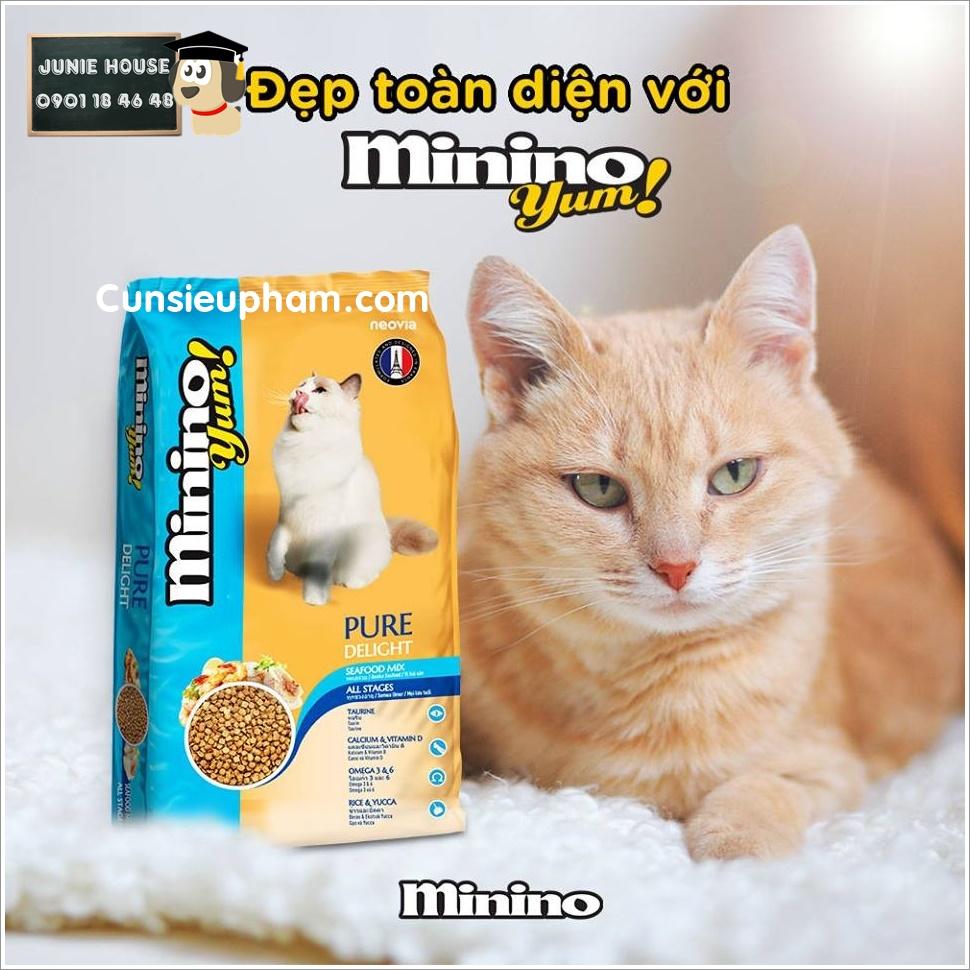 Hạt thức ăn Minino cho mèo | Junie House chuyên cung cấp quần áo cho chó, quần áo chó mèo, đồ chơi cho chó mèo, đồ chơi cá chép cho chó mèo... Hotline 0901 18 46 48