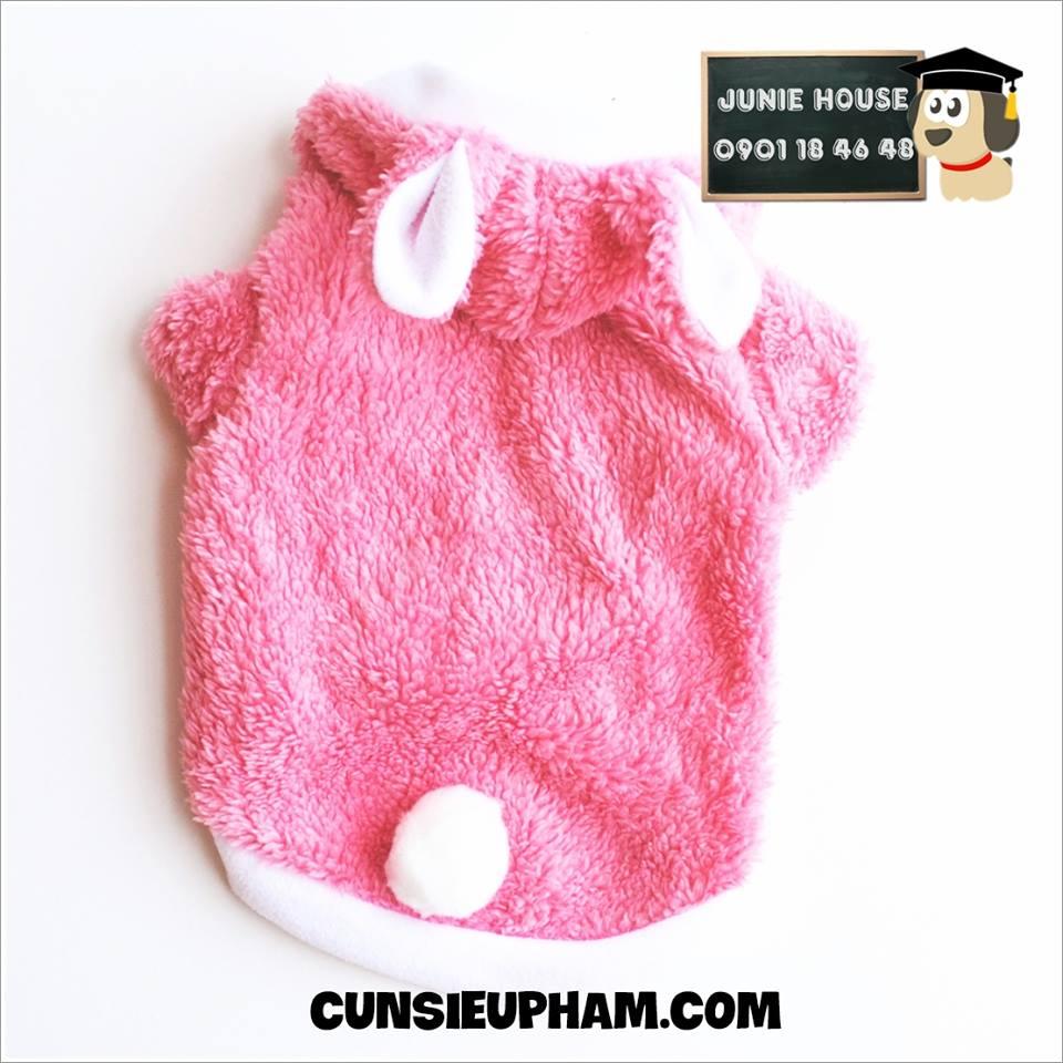 Junie House chuyên cung cấp quần áo cho chó, quần áo chó mèo, áo thỏ mùa đông cho boss... Hotline 0901 18 46 48