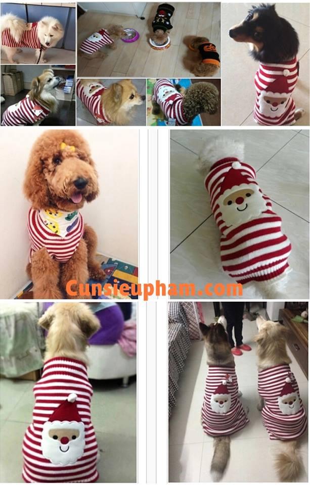 Junie House chuyên cung cấp quần áo cho chó, quần áo chó mèo, áo len ông già noel dành cho boss... Hotline 0901 18 46 48