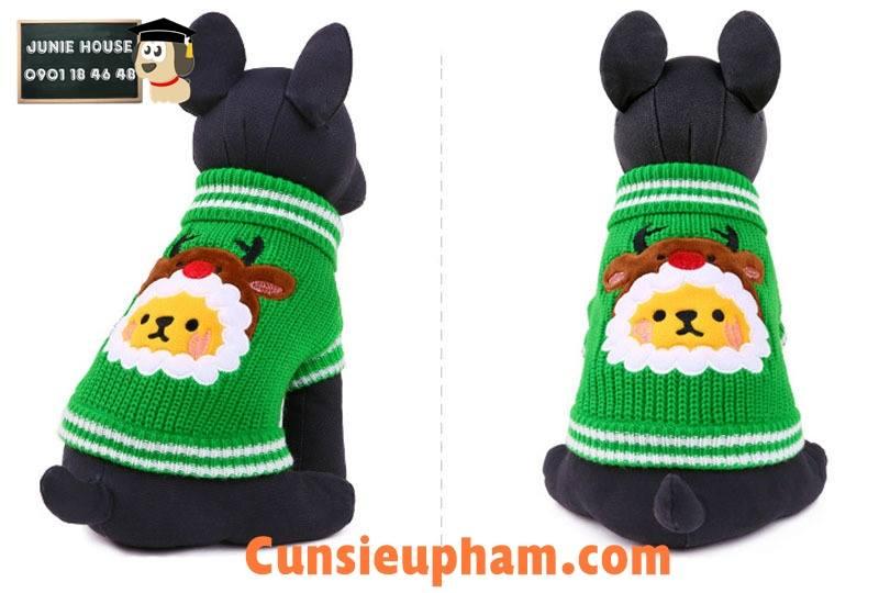 Junie House chuyên cung cấp quần áo cho chó, quần áo chó mèo, áo len noel dành cho boss... Hotline 0901 18 46 48