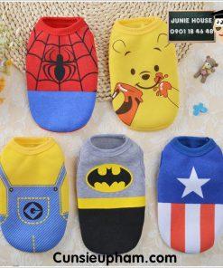 Junie House chuyên cung cấp quần áo cho chó, quần áo chó mèo, đồ chơi cho chó mèo, áo thin 3 lỗ siêu anh hùng dành cho boss... Hotline 0901 18 46 48