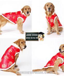 Junie House chuyên cung cấp quần áo cho chó, quần áo chó mèo, đồ chơi cho chó mèo, áo tết họa tiết đồng tiền cho chó lớn... Hotline 0901 18 46 48