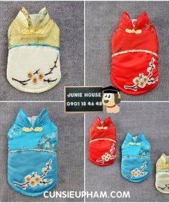 Junie House chuyên cung cấp quần áo cho chó, quần áo chó mèo, đồ chơi cho chó mèo, áo tết họa tiết hoa mai dành cho chó... Hotline 0901 18 46 48
