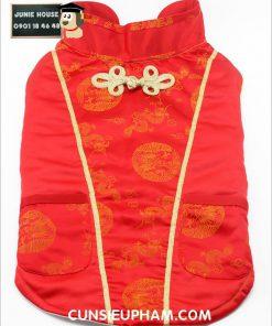 Junie House chuyên cung cấp quần áo cho chó, quần áo chó mèo, đồ chơi cho chó mèo, áo tết hoa văn gấm dành cho chó lớn... Hotline 0901 18 46 48