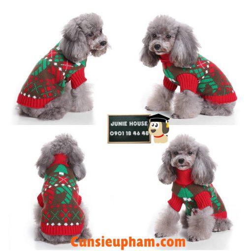Junie House chuyên cung cấp các loại quần áo phụ kiện, đồ chơi cho chó mèo, áo len cổ lọ noel dành cho chó mèo ... Hotline 0901184648