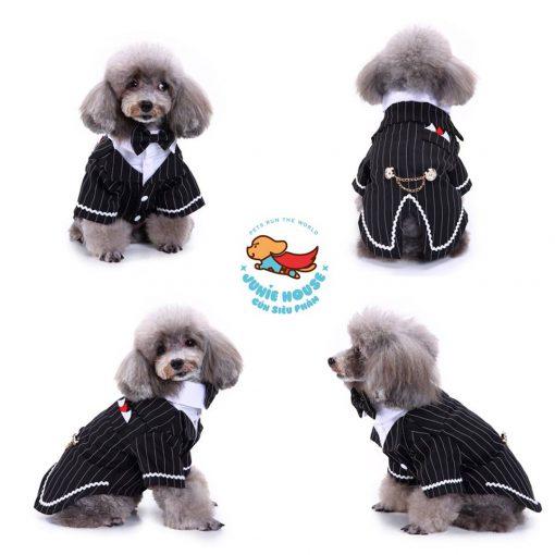 Junie House chuyên cung cấp quần áo, phụ kiện cho thú cưng: Trang phục superman, cướp biển, minions, áo vest chú rể dành cho chó mèo | 0901.18.46.48