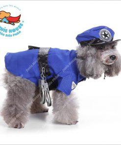 Junie House chuyên cung cấp quần áo, phụ kiện cho thú cưng: Trang phục superman, cướp biển, minions, trang phục cosplay cảnh sát cho chó mèo | 0901.18.46.48